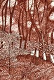 Rectory Woods 2 by Jackie Abey, Drawing, Pen on Paper