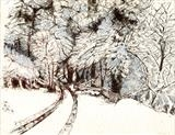 Snow by Jackie Abey, Drawing, Pen on Paper
